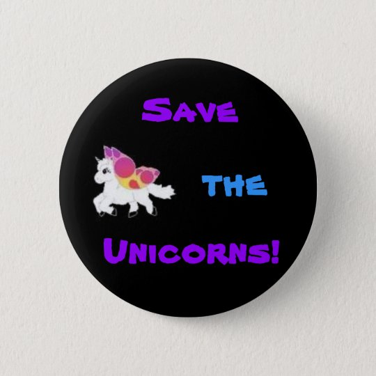 images, Save, the, Unicorns! 6 Cm Round Badge