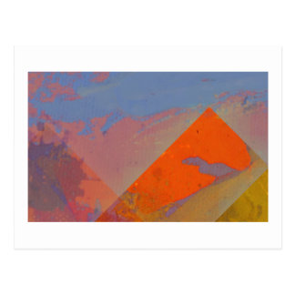 Imaginary desert landscape postcard