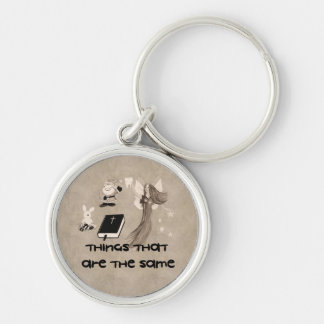 Imaginary Playthings Silver-Colored Round Key Ring