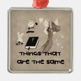Imaginary Playthings Silver-Colored Square Decoration