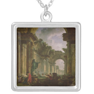 Imaginary View of the Grand Gallery of the Silver Plated Necklace