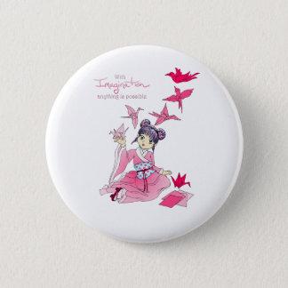 Imagination 6 Cm Round Badge