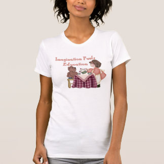 Imagination Fuels Education (teaparty) Womens T Tees