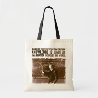 Imagination is more important than knowledge canvas bags