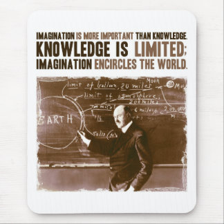 Imagination is more important than knowledge mouse mat