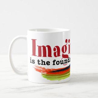 Imagination is the foundation of reality basic white mug