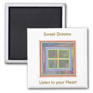 Imagination : Open your heart Square Magnet