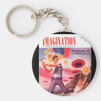 Imagination v04 n07 (1953-08.Greenleaf)_Pulp Art Basic Round Button Key Ring