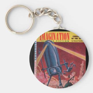 Imagination v09 n02 (1958-04.Greenleaf)_Pulp Art Basic Round Button Key Ring