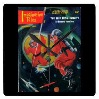 Imaginative Tales - 1957.11_Pulp Art Wall Clocks