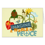 Imagine a World in Peace Greeting Card