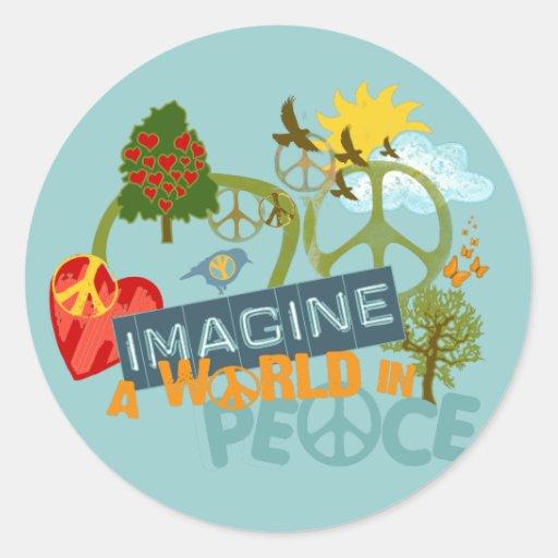 Imagine a World in Peace Sticker