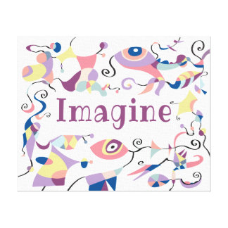 Imagine Abstract Decor Canvas For Child's Room