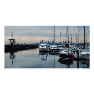 Imagine at Brighton Harbour Custom Photo Card