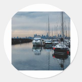 Imagine at Brighton Harbour Round Sticker