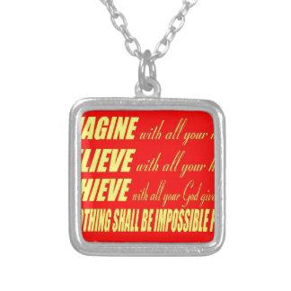 Imagine, Believe, Achieve Custom Jewelry