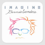 Imagine Bernie Sanders Square Sticker