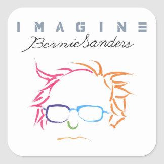 Imagine Bernie Sanders Square Sticker
