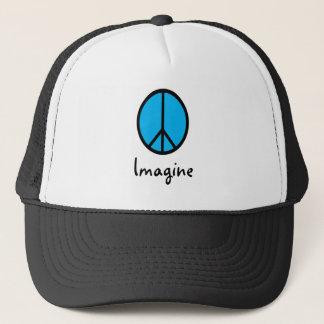 Imagine BLUE peace symbol Cap