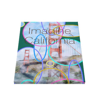 Imagine California Stretched Canvas Prints