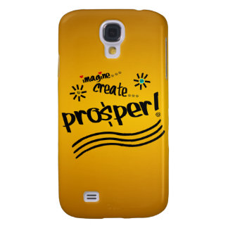 Imagine , Create, Prosper! With Hearts and Swirls Galaxy S4 Case