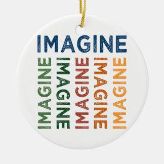 Imagine Cute Colorful Christmas Ornament