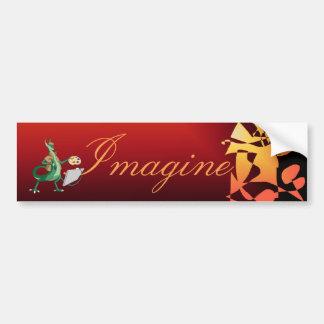 """Imagine"" Dragon Painter Bumper Sticker"