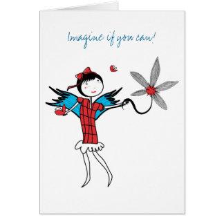 Imagine Flying Card