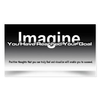 Imagine Goal Card Pack Of Standard Business Cards