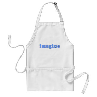Imagine In Blue Font Products Standard Apron