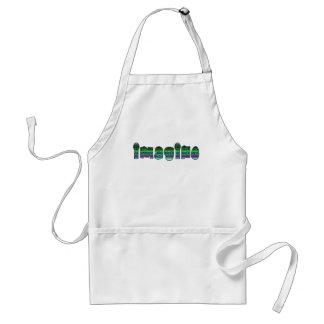 Imagine in Colorful Font Standard Apron