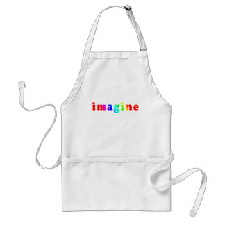 Imagine in Rainbow Color Lettering Standard Apron