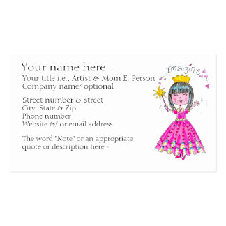 """""""Imagine"""" made-to-order business/ calling card Business Card"""