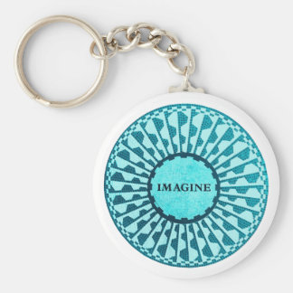 Imagine Mosaic, Strawberry Fields, Central Park 04 Basic Round Button Key Ring