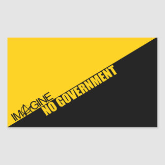 Imagine No Government Rectangular Sticker