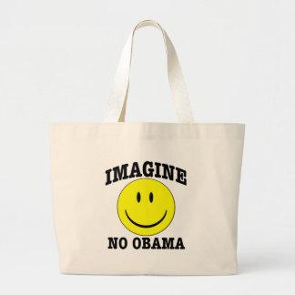 Imagine No OBAMA Large Tote Bag