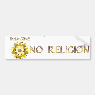 Imagine No Religion Bumper Sticker