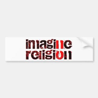 Imagine No Religion Bumper Stickers