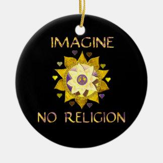 Imagine No Religion Christmas Ornament