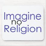 Imagine no Religion Mouse Mat