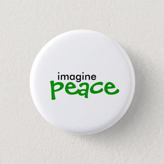 imagine, peace 3 cm round badge