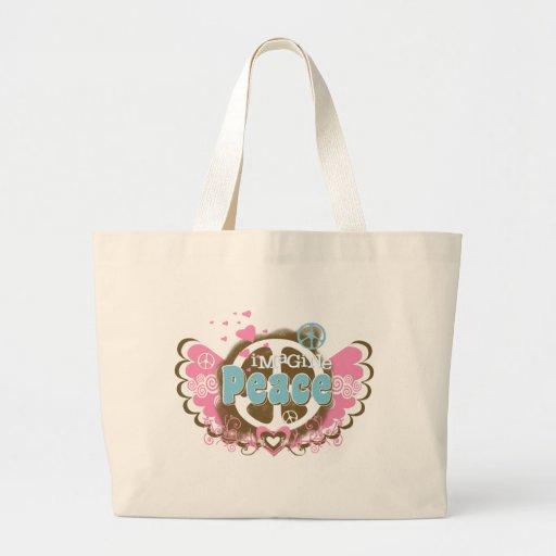 Imagine Peace Tote Bags