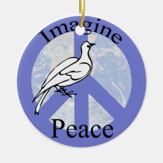 Imagine Peace Christmas Ornament