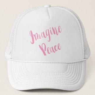 Imagine-Peace-Graphic Pink Type Cap