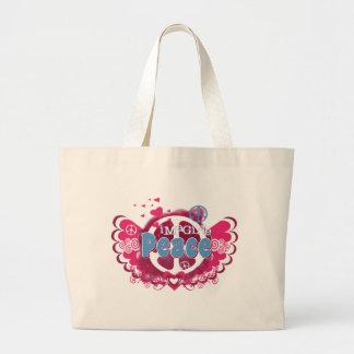 Imagine Peace Large Tote Bag