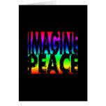 IMAGINE PEACE RAINBOW GREETING CARDS