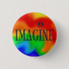 Imagine Peace Rainbow Tie-Dye button