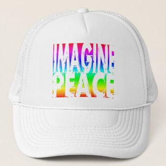 IMAGINE PEACE RAINBOW TRUCKER HAT