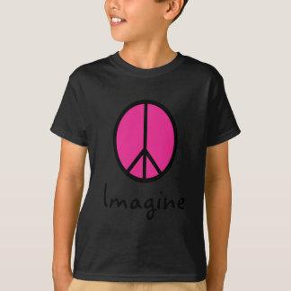 Imagine PINK PEACE symbol Shirt