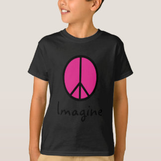 Imagine PINK PEACE symbol T-Shirt